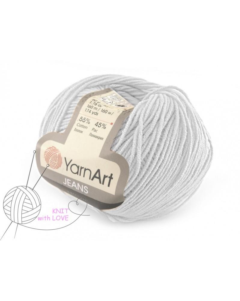 Włoczka Jeans Yarn Art kolor biały 01