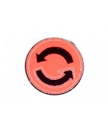 -aplikacja-termo-odblaskowa-znaczek-rozowy-neon