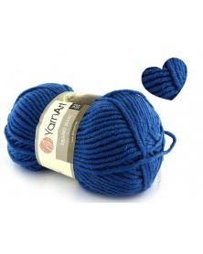 Włóczka Merino Bulky kolor 551 ciemny niebieski