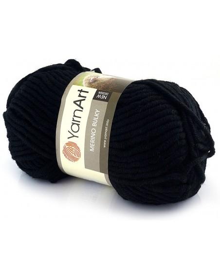 Włóczka Merino Bulky kolor 585 czarny