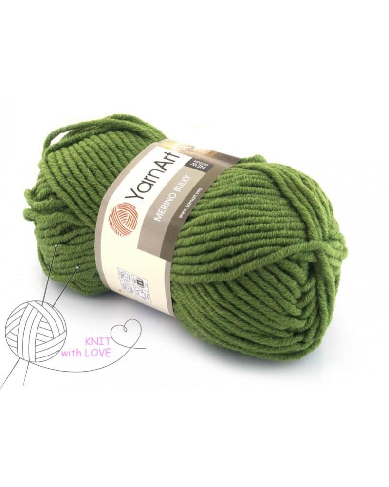 Włóczka Merino Bulky kolor 098 zielony