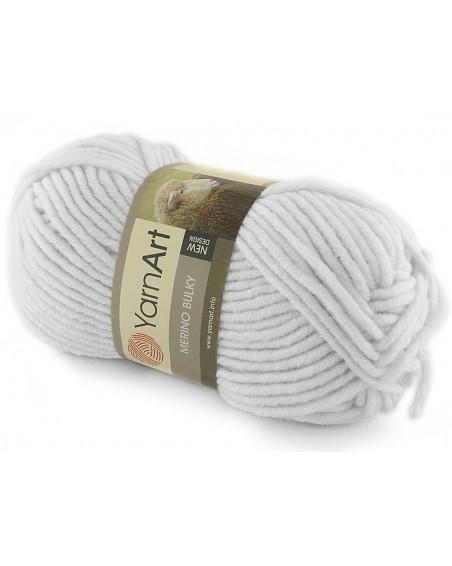 Włóczka Merino Bulky kolor 501 biały