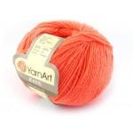 Włoczka Jeans Yarn Art kolor pomarańczowy 61 NEON