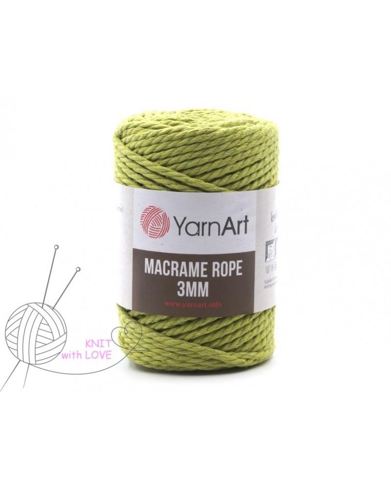 Macrame Rope 3 mm kolor zielony 755