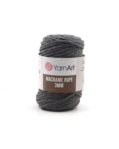Macrame Rope 3 mm kolor grafit 758
