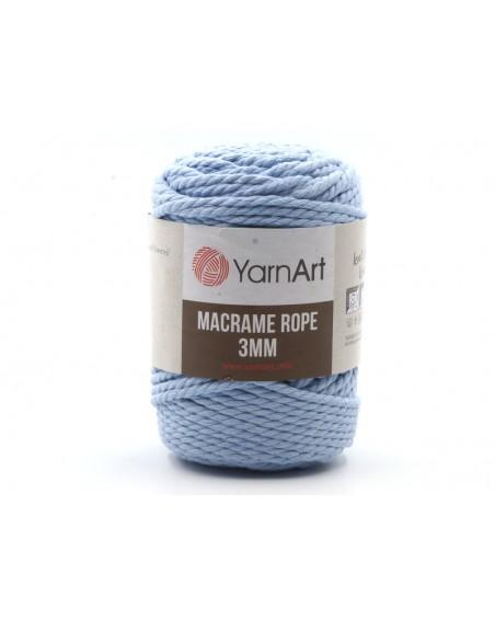 Macrame Rope 3 mm kolor niebieski 760