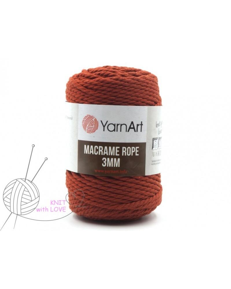 Macrame Rope 3 mm kolor rdzawy 785