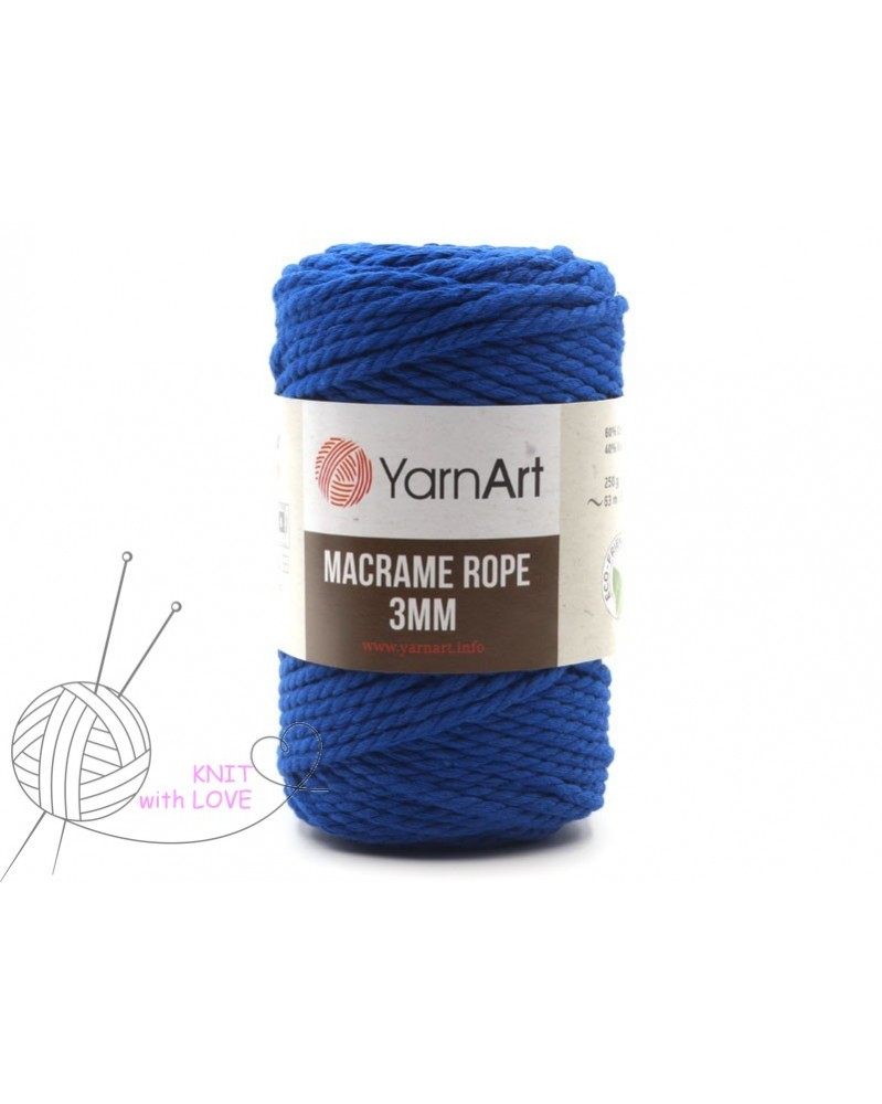 Macrame Rope 3 mm kolor szafir 722