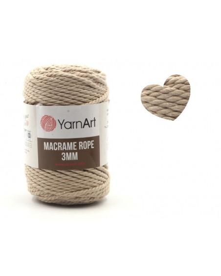 Macrame Rope 3 mm kolor beż 753