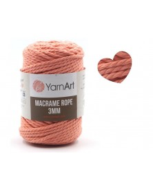 Macrame Rope 3 mm kolor łosoś 767