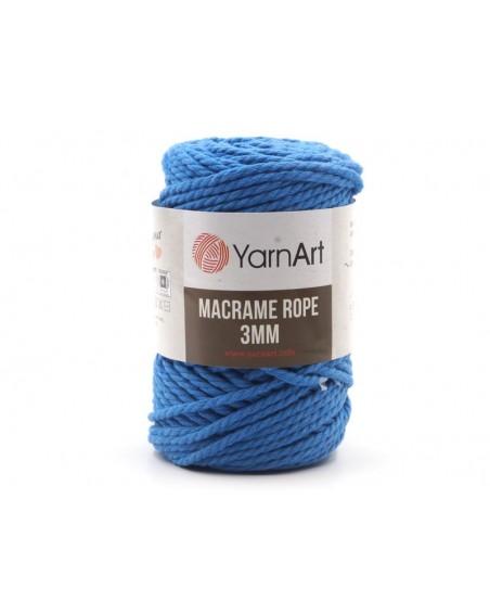 Macrame Rope 3 mm kolor niebieski 786