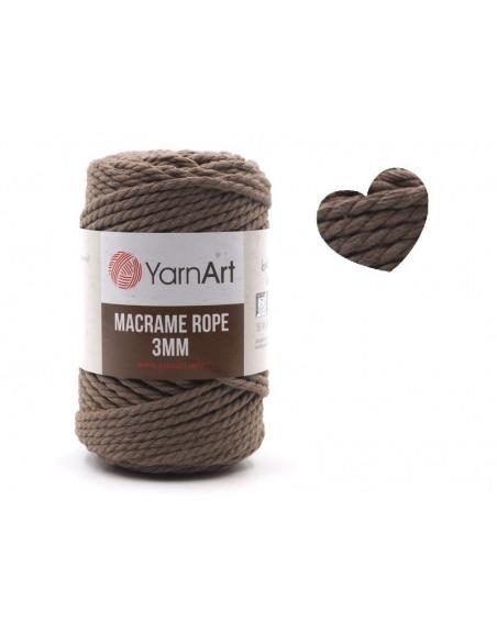 Macrame Rope 3 mm kolor kawowy 788