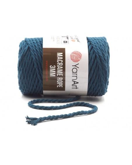 Macrame Rope 3 mm kolor granat 784