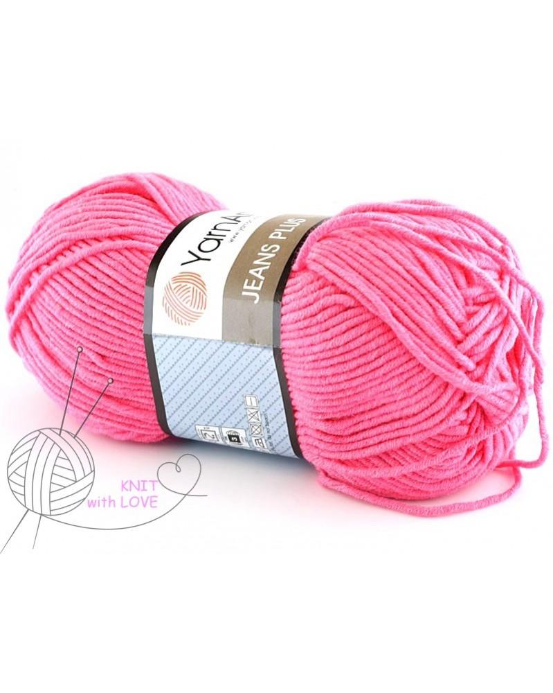 Włóczka Jeans Plus kolor różowy intensywny 42