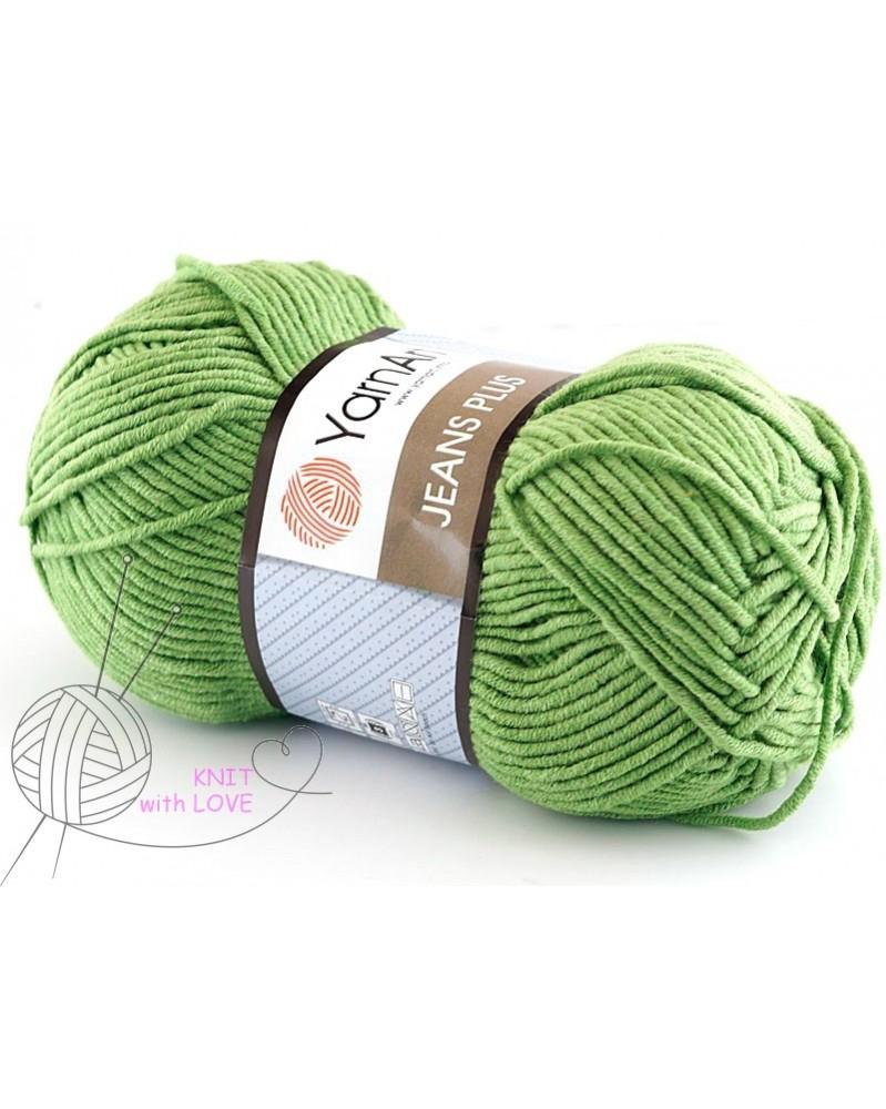 Włóczka Jeans Plus kolor zielony 69