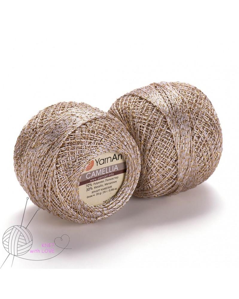 kordonek-camellia-kolor-423-turkus-z-srebrna-nitka