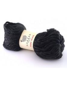 wloczka-pure-wool-gazzal-kolor-5249-czarny-z-delikatna-brazowa-nitka