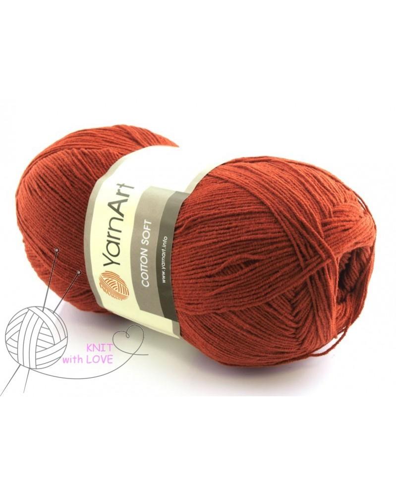 Cotton Soft Yarn Art kolor rudy 43