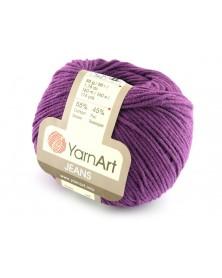 Włoczka Jeans Yarn Art kolor śliwka 50