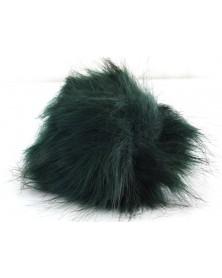 pompon-futrzany-z-dlugim-wlosem-kolor-ciemna-zielen