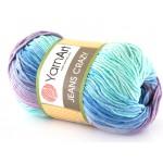 Włóczka Jeans CRAZY 8203 niebieski, fiolet