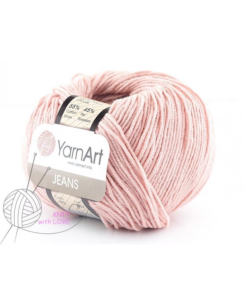 Włoczka Jeans Yarn Art kolor pudrowy róż 83