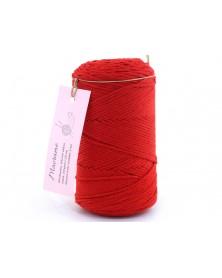 Sznurek Macrame kolor czerwony 772