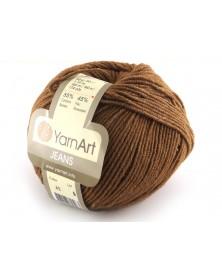 Włoczka Jeans Yarn Art kolor brązowy 40