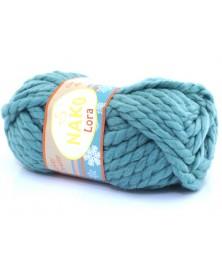 Włóczka Lora kolor brudny niebieski 11636