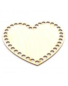 Baza koszyka serce 24cm x 21 cm