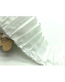 Taśma  plisa biała bawełniana  T841M