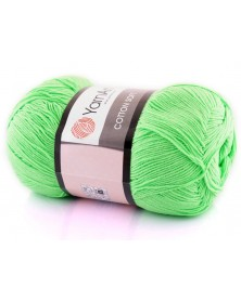 Cotton Soft Yarn Art kolor 60 neonowy zielony