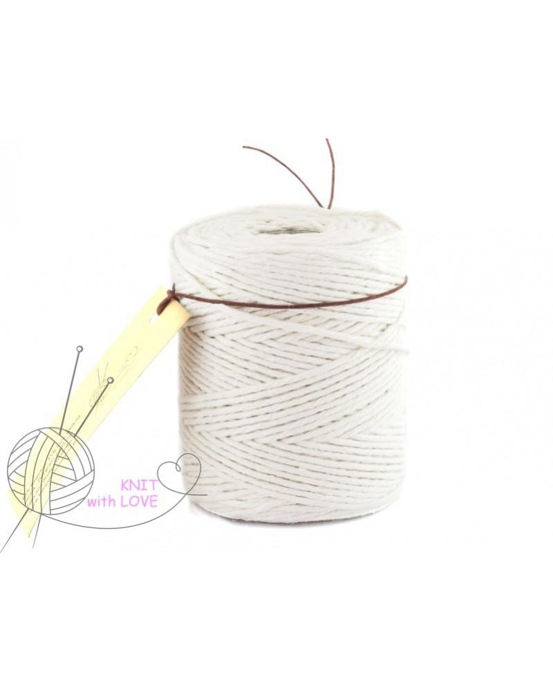 Sznurek bawełniany do Makramy kolor naturalny