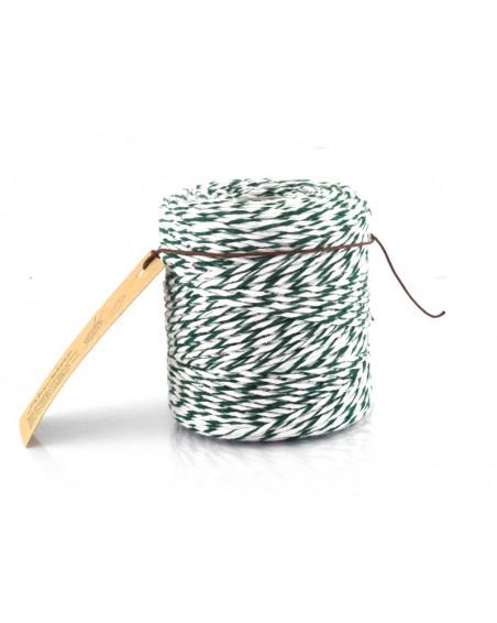 Sznurek bawełniany do Makramy kolor biało zielony