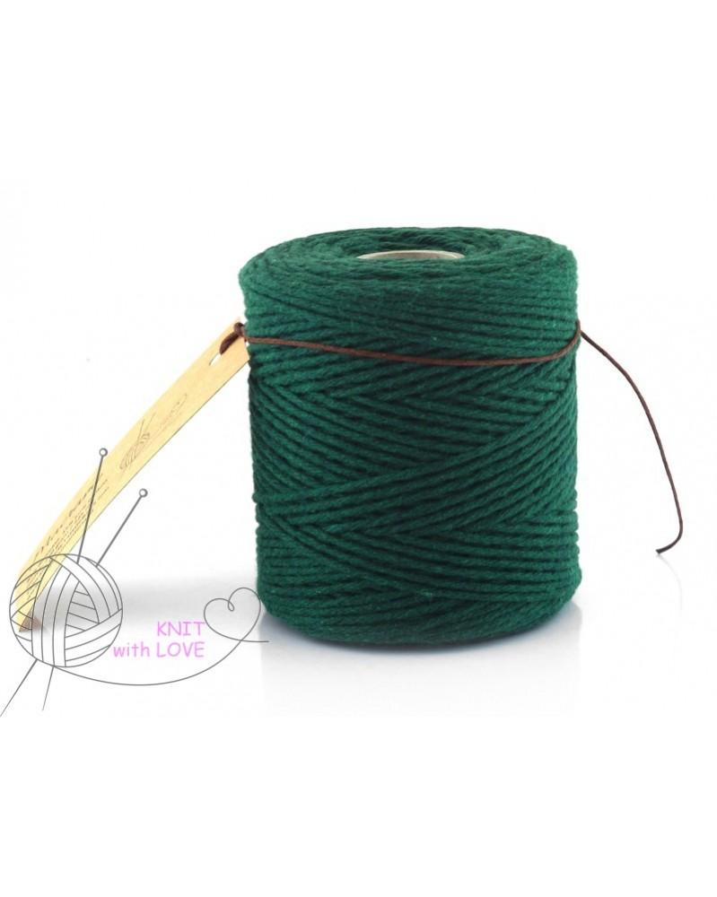 Sznurek bawełniany do Makramy kolor zielony